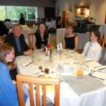 Bishop John and guests enjoying the evening